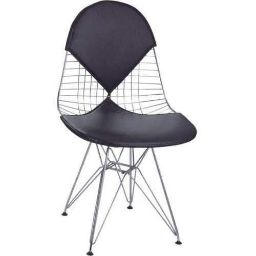 Krzesło net double inspirowane wire chair - czarny marki D2.design