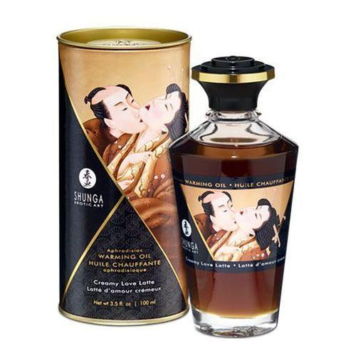 Olejek do masażu - aphrodisiac warming oil creamy latte 100 ml marki Shunga