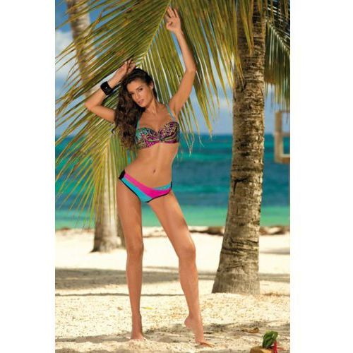 Kostium Kąpielowy Model Margaret Nero-Baia-Rosa Shocking M-377 Black/Sky Blue/Pink
