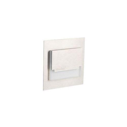 Oprawa schodowa SABIK MINI 7.5 cm srebrna kwadratowa LED barwa ciepła KANLUX, 23109