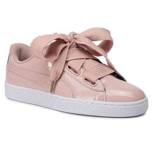 Puma Sneakersy - basket heart patent wn's 363073 11 peach beige/peach beige