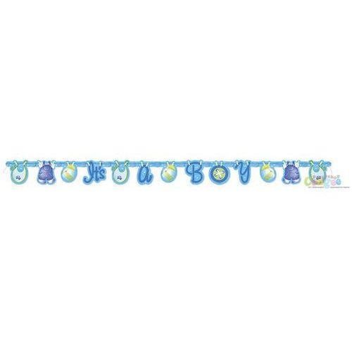 Baner niebieskie ubranka - 157 cm - 1 szt. marki Unique