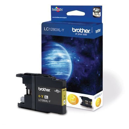 Brother oryginalny ink LC-1280XLY, yellow, 1200s, high capacity, Brother MFC-J6910DW, kolor Żółty