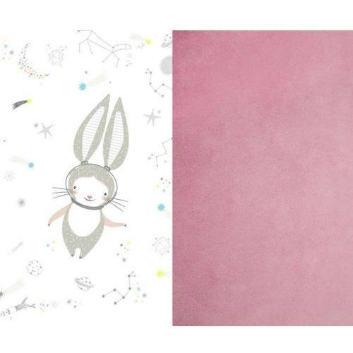 Samiboo Mały kocyk z wypełnieniem  - króliczek różowy (75x100)