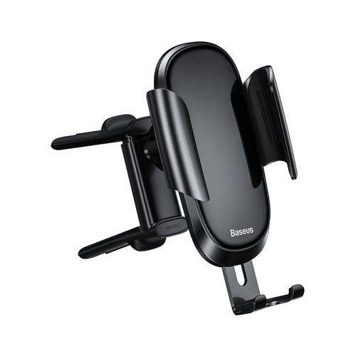 future grawitacyjny uchwyt samochodowy na okrągłą kratkę wentylacyjną nawiew na telefon czarny (suyl-bwl01) marki Baseus