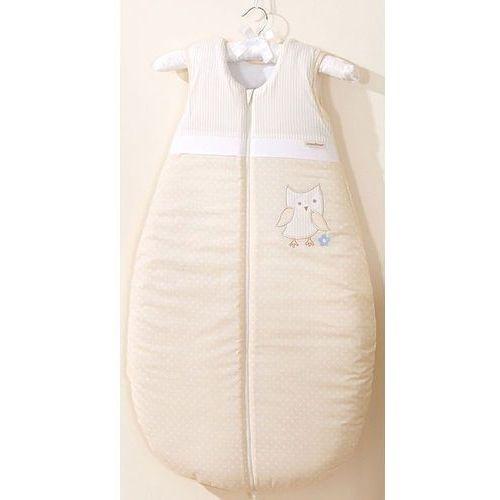 śpiworek niemowlęcy do 18 m-ca haftowany sówki uszatki biszkoptowe marki Mamo-tato