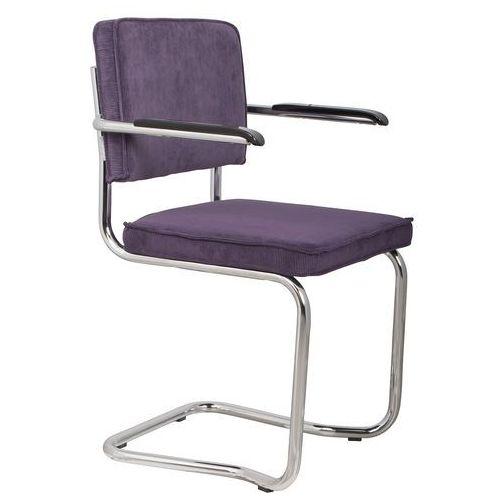 Zuiver fotel ridge kink rib purpurowy 15a 1200051