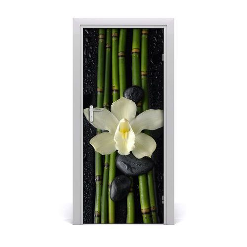 Naklejka samoprzylepna okleina Orchidea i bambus