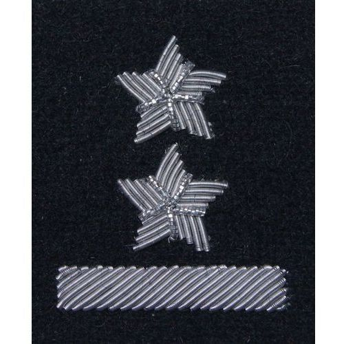 Stopień na beret WP (czarny / b) - podporucznik