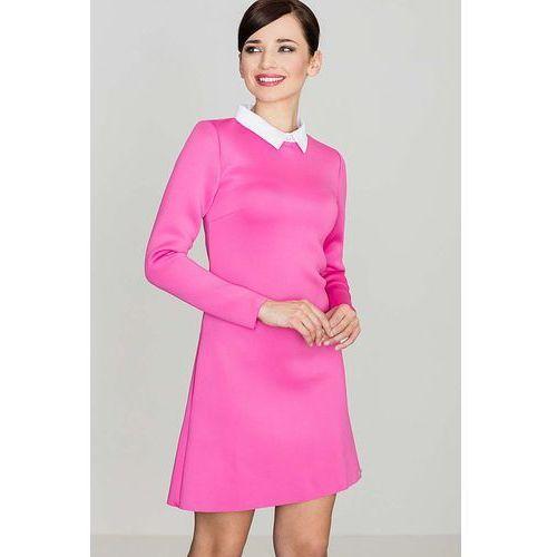 72db2aff97 Różowa Elegancka Trapezowa Sukienka z Bi.