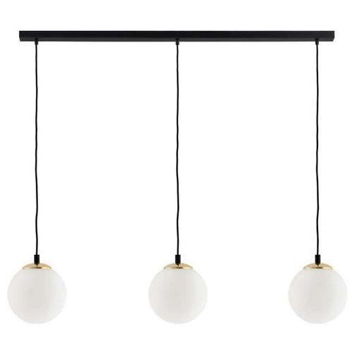 Lampa wisząca bler 11031305 szklana oprawa kulisty zwis kule balls na listwie złote białe czarne marki Kaspa