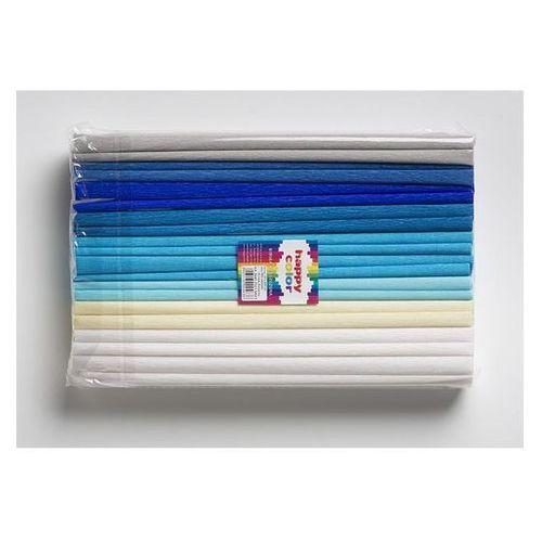 Bibuła marszczona 25 x 200 cm mix niebieski nr 3 - HAPPY COLOR OD 24,99zł DARMOWA DOSTAWA KIOSK RUCHU