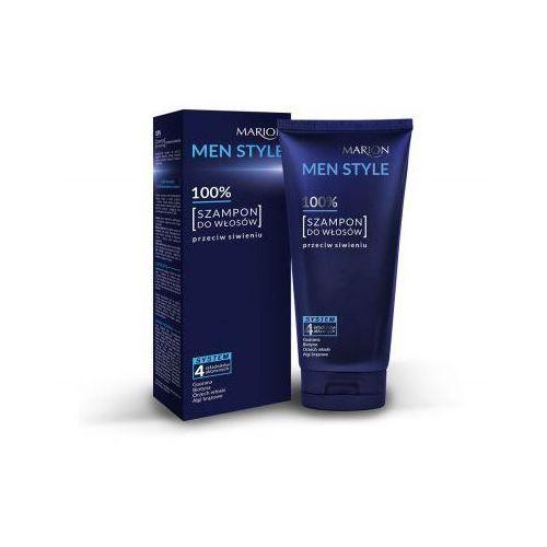 100% szampon do włosów przeciw siwieniu wyprodukowany przez Marion men