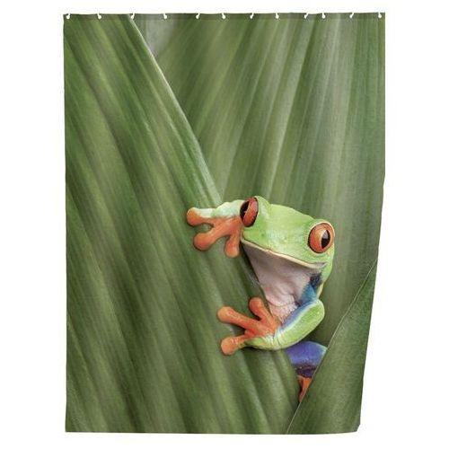 Zasłona prysznicowa, tekstylna, Frog, 180x200 cm, WENKO (4008838209585)