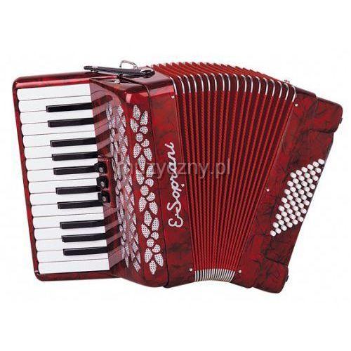 428 kk 26/2/3 48/4 akordeon (czerwony) marki E.soprani