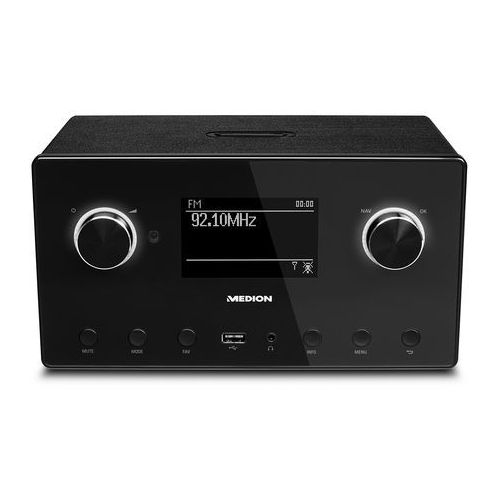 Medion p85080 MD 87523 Wi-Fi Internet Radio System dźwięku o częstotliwości taktowania 2.1 Czarny (4015625875236)