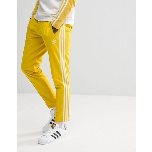 Adidas originals adicolor beckenbauer joggers in skinny fit in yellow cw1273 - yellow