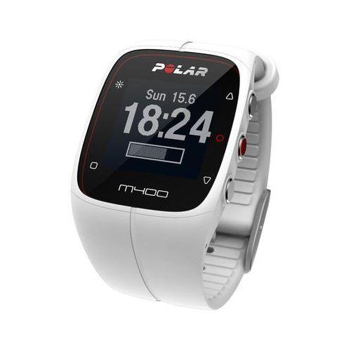 Polar M400 HR - zegarek sportowy z GPS i modułem HR (biały)