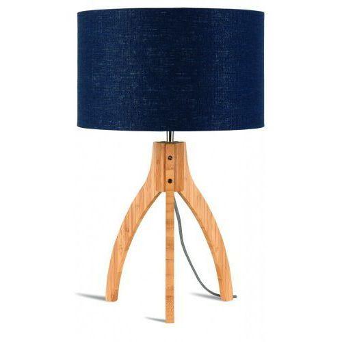 It's about romi Lampa stołowa annapurna trójnożna 30cm/abażur 32x20cm, lniany blue denim