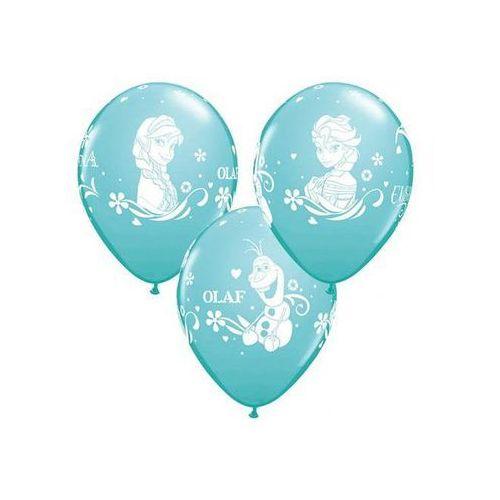 Balony urodzinowe błękitne Frozen - Kraina Lodu - 30 cm - 6 szt