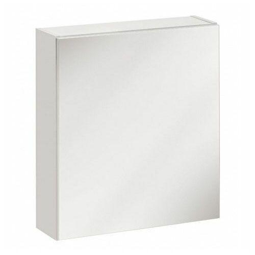 Wisząca szafka lazienkowa z lustrem - Malaga 6X Biały, TWIST-BIAŁY-840