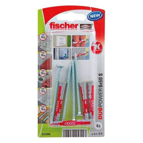 Kołek uniwersalny duopower 6 x 50 z wkrętem 4 szt. marki Fischer