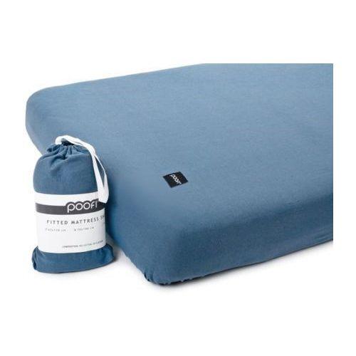 Poofi Prześcieradło do łóżeczka organic & color - denimowy - 60x120 cm -
