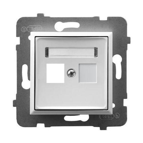 Obudowa gniazda pojedynczego typu Keystone prosta GPK-1U/p/00 biała Aria Ospel