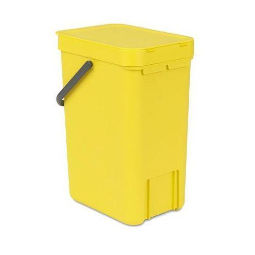 Kosz do segregacji odpadów Sort & Go 12 l żółty, 109768