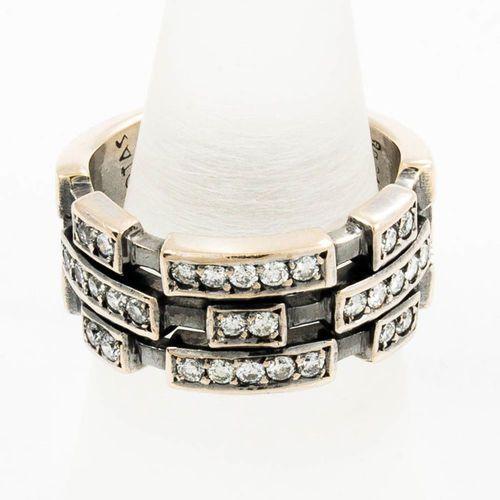 Złoty pierścionek z diamentami P1625, kolor żółty