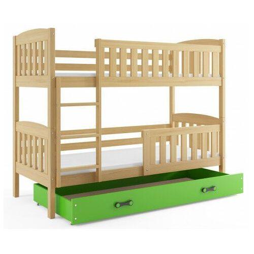 Elior Piętrowe łóżko dla dzieci z materacami 80x190 - celinda 2x