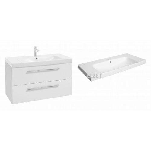 Defra szafka trento d95 biały połysk + umywalka roma 95 123-d-09501+3065