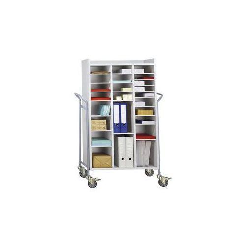 Wózek biurowy, na pocztę, nośność 150 kg, dł. x szer. x wys. 950x455x1380 mm. No