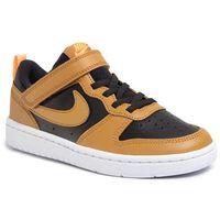 Buty - court borough low 2 (psv) bq5451 004 black/wheat/orange pulse/white marki Nike