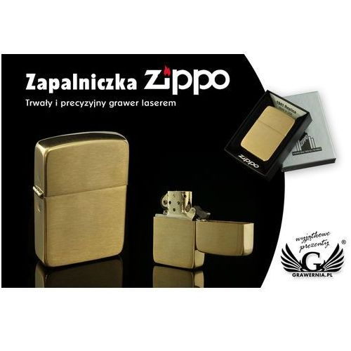 Zippo Zapalniczka  1941 replica brush brass vintaged