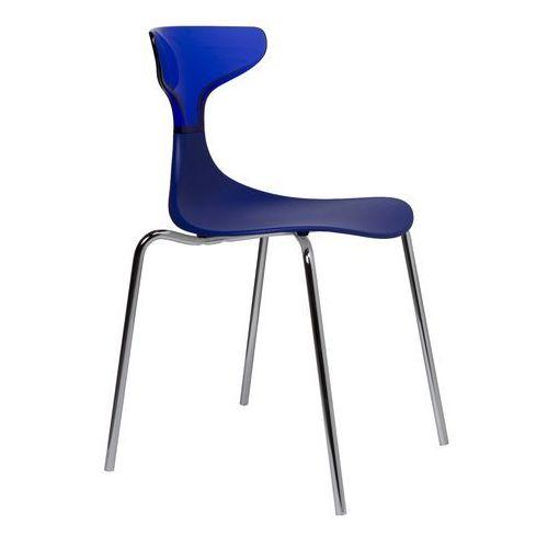 Krzesło steam punk niebieskie marki Green