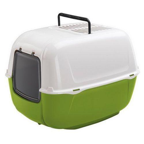 Ferplast  prima new toaleta dla kota biało-zielona [72053799el] (5900011549008)
