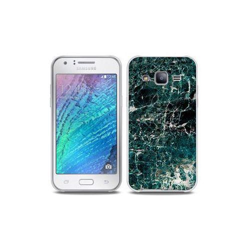 Samsung Galaxy J5 - etui na telefon Full Body Slim Fantastic - zielony marmur, kolor zielony