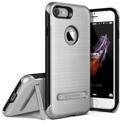 Etui VRS DESIGN Duo Guard do iPhone 7 Srebrny (Futerał telefoniczny)