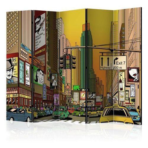 Parawan 5-częściowy - nowy jork - miasto tętniące życiem ii [room dividers] marki Artgeist