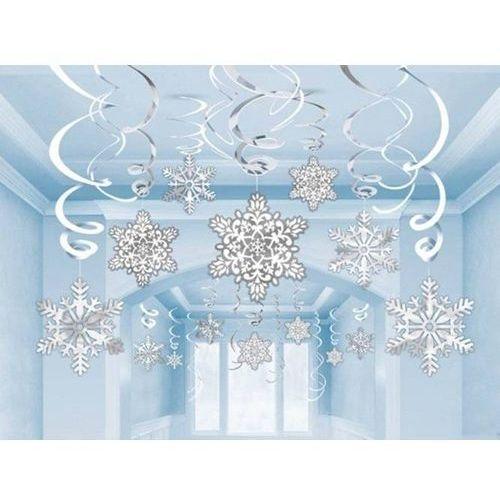Amscan Dekoracja wisząca świderki płatki śniegu - 30 szt. (0048419972570)
