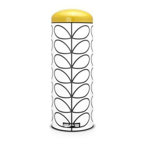 - kosz pedałowy 'retro' slimline - wiaderko plastikowe – 20l - pokrywa żółta marki Brabantia