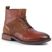 Kozaki - elevated tall leather mix boot fm0fm02456 brandy 601, Tommy hilfiger, 40-45