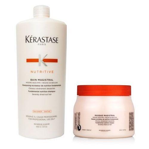 Kerastase Magistral | Zestaw nawilżający do włosów grubych i mocno przesuszonych: kąpiel 1000ml + maska 500ml (9753197531117)