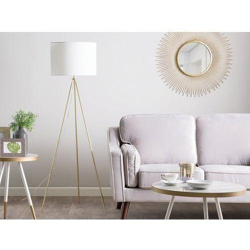 Beliani Lampa stojąca złoto-biała 148 cm vistula