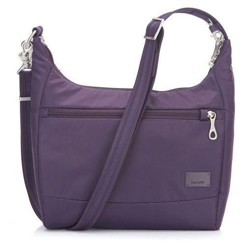 """Pacsafe citysafe cs100 torba antykradzieżowa na ramię / tablet 9,7"""" / mulberry - mulberry"""