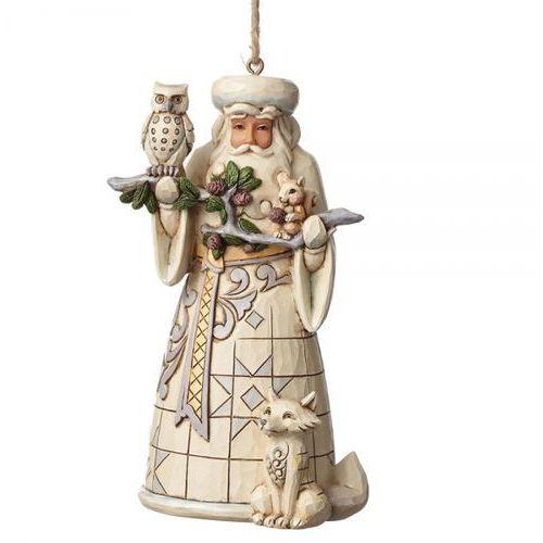 Mikołaj Zawieszka White Woodland Santa (Hanging ornament) 4050011 Jim Shore