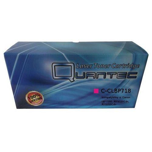 Quantec Zastępczy toner canon [clbp-718m = crg-718m] magenta 100% nowy