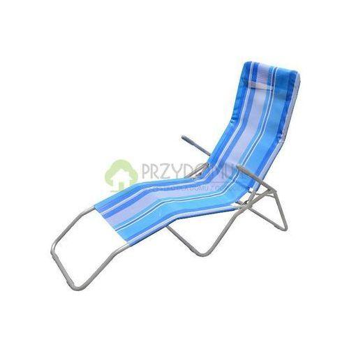 Leżak stalowy plażowy niebieski 48063