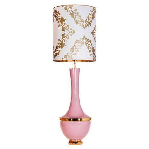 4concepts Salonowa lampa stołowa troya l232270319 abażurowa lampka stojąca vintage biała różowa